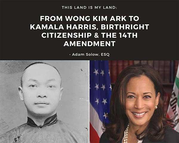 Ark Harris 14th Amendment Birthright Immigration Law SHG